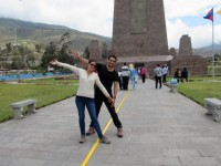 In the middle of the world in Quito